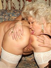 Francesca and Erlene are horny older women indulging their lesbian cravings and getting off live