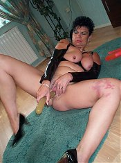 Horny housewife gets nasty when sh gets bored
