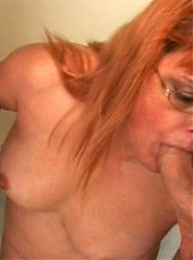 Nasty granny Fritz gets nasty as she goes for a wild senior threesome and swallows cum live